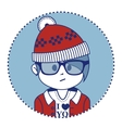 Santa Claus dressed in a trendy hipster style vector image vector image