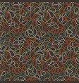 seamless pattern of stylized leaves and vector image vector image