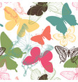 seamless pattern with decorative butterflies in vector image vector image