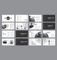 set black and white slide templates with vector image vector image