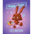 set easter characters cute cartoons vector image vector image