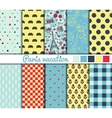 Set of 10 simple seamless patterns vector image vector image