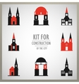 Set of architectural monuments old Europe vector image