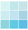set of blue backgrounds with small gold stars vector image vector image
