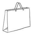 single sketch shopping bag vector image vector image