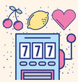 slot machine jackpot casino gambling image design vector image