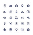 smart home house automation system icons set vector image