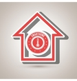 smart home with thermometer isolated icon design vector image