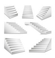 stairs or staircases and podium stairway ladders vector image