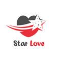 star love logo vector image