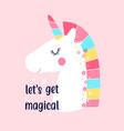 sweet unicorn and slogan