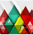 transparent triangle tiles banner vector image vector image