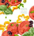 Vegetarian background organic natural food fr vector image vector image