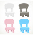 white pink blue and dark gray bachair with vector image