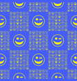 yellow smile seamless pattern vector image vector image