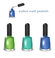 Color nail polish vector image