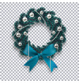 a blue branch of spruce in the form of a christmas vector image vector image