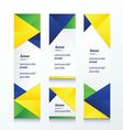 abstract banner set brazil style vector image vector image