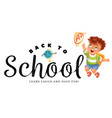 back to school horizontal banner education vector image