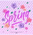 beautiful spring background with handwritten vector image