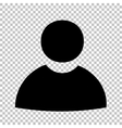 Black icon isolated on transparent vector image