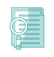 blue shading silhouette of search files with tool vector image vector image