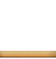 Brown wood floor on white background empty room vector image vector image