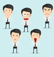 Businessman character set version3 vector image