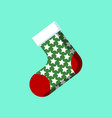 christmas sock icon sign symbol vector image vector image