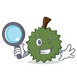 detective durian character cartoon style vector image vector image