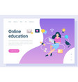 distance study online education webinar vector image