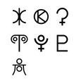 dwarf planets symbols vector image