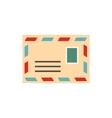 Envelope with stamp icon flat style vector image vector image