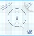 exclamation mark in circle line sketch icon vector image vector image