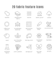 Fabric feature line icons Comfort wear and