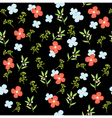 floral pattern dark vector image vector image