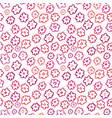 floral seamless pattern simple flower textile vector image