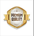golden retro premium quality badge 2 vector image