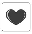 Gray Heart icon vector image vector image