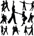 group dancers as a couple vector image vector image