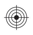 gun target linear icon vector image vector image