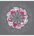 Hand drawn Christmas mandala with pine vector image vector image