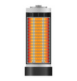 hot boiler mockup realistic style vector image