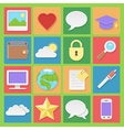 light icons set for web in flat design vector image vector image