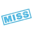 Miss Rubber Stamp vector image vector image