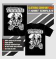 mock up clothing company t-shirt templateskull vector image vector image