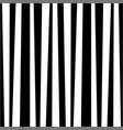 monochrome zebra black and white striped vertical vector image