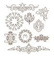 Monogramsline design elements for logos frames vector image vector image