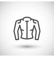 Motorcycle jacket line icon vector image vector image