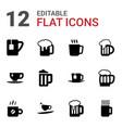 mug icons vector image vector image